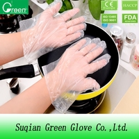 hdpe/ldpe/cpe/tpe plastic examination protective glove