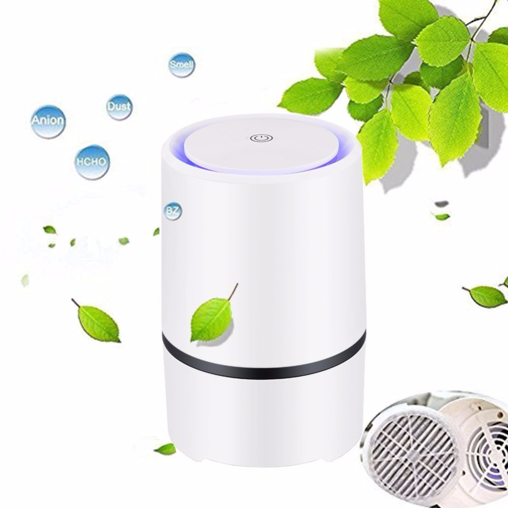 Wholesale oem portable Desktop Aroma Diffuser USB negative ion Air Purifier with HEPA filter