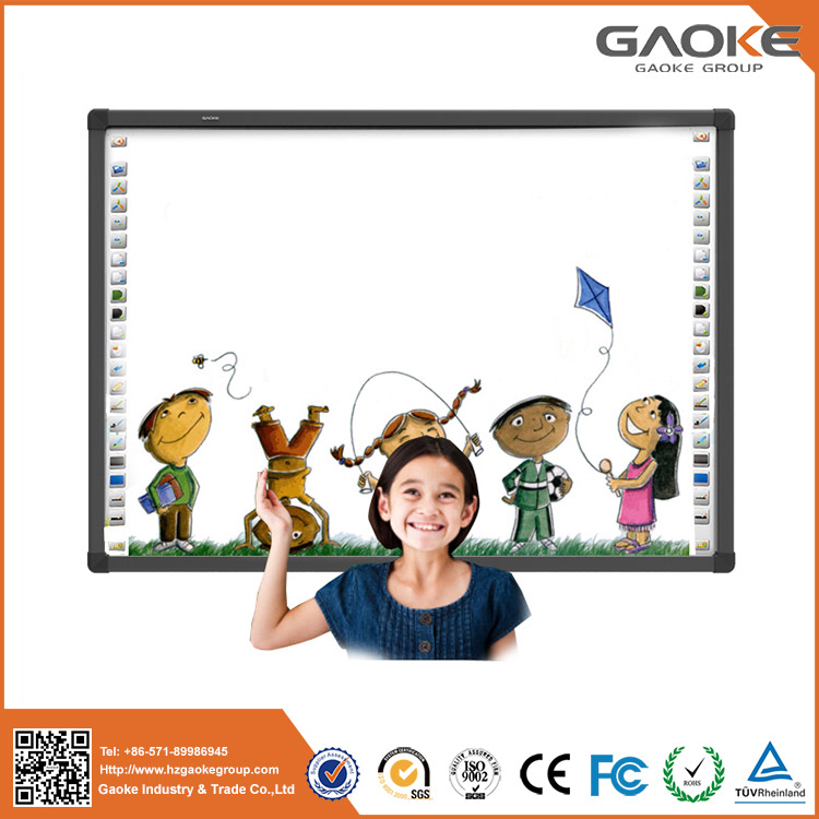 Interactive whiteboard prices 96 inch 82 inch white boards gaoke 880H writing board for class office