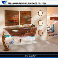 Fancy boat style home corner bar furniture for the home