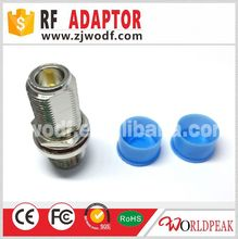 brass material coaxial connector N type female bulkhead to female adapter