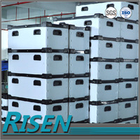 manufacturer corrugated stackable plastic moving boxes rectangular, plastic moving turnover box