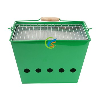Powder coated galvanized grill barbecue