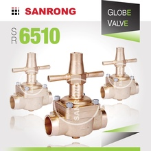 SR 6510 6540 Brass Piston Globe Valve for Air Conditioner, Castel Globe Valve, Stop Valve for Refrigeration