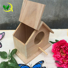 Wooden bird nest,decorated wooden carved bird cage/house christmas craft