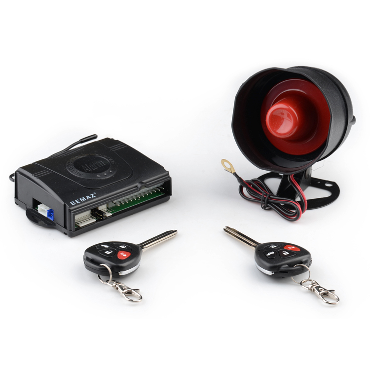 2015 hot selling best price remote control simple 6 tone anti-theft one way car alarm