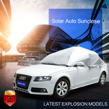 SUNCLOSE Factory advertised solar charger umbrella beach prasol with design pet car seat cover