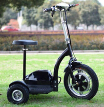 Best sell 48V 500W Mobility Three Wheel Scooter Folding Electric Zappy Vehicles for Disabled