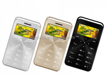 GS6 Mini Slim mobile phone OLED Bluetooth Credit Card Size Super Mini mini Card Phone