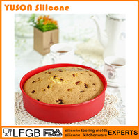 Food Grade Non-stick Silicone Pizza Pan Round Shaped