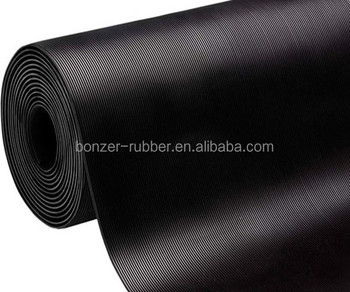 Fine Ribbed Corrugated Rubber Matting Manufacture in china
