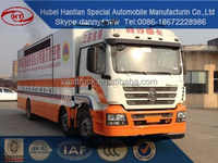 HOT SALE Leading Moible Advertising Solution LED Mobile Stage Truck for sale heavy 6x2 new AD van