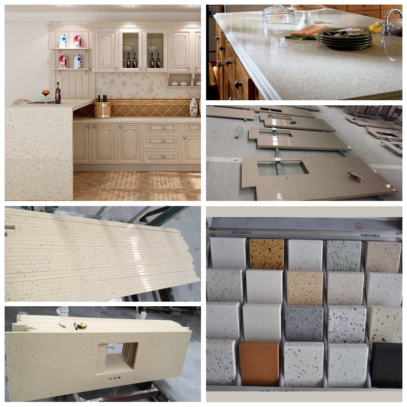 Prefabricated quartz countertop bathroom top