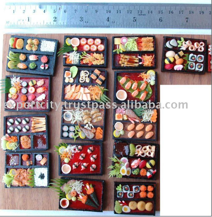 Miniature sushi ( Fridge Magnet Size)