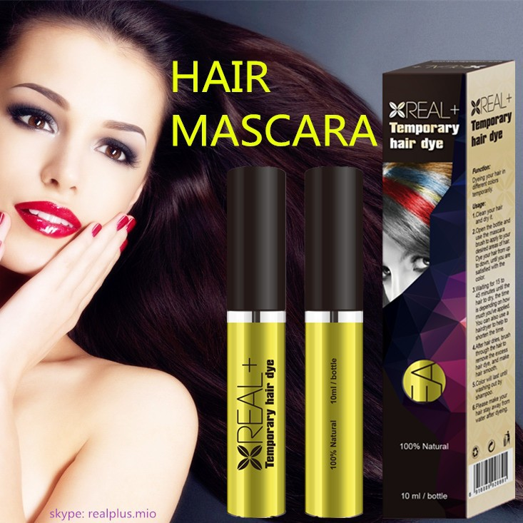 Hair dye for men and women REAL PLUS temporary hair dye cover gray hair