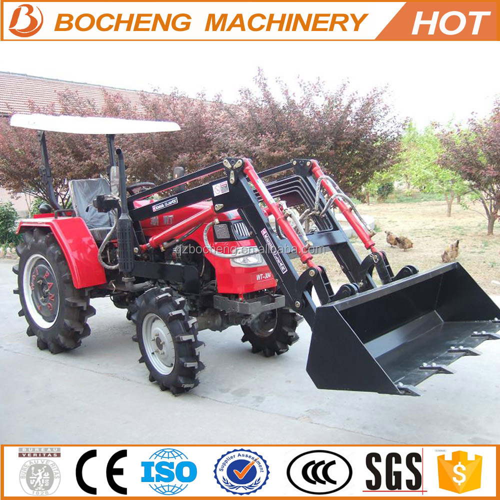 wheel japanese compact tractor with front end loader for sale