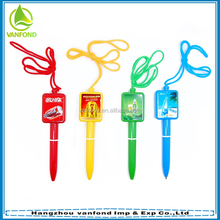 Best selling plastic advertising ballpoint pen on a rope