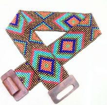 Wooden stretch custom beaded western belts