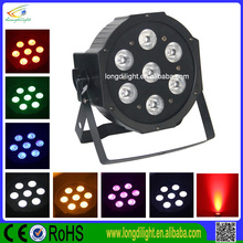 7x10w rgbaw 5 in1 mini slim Led Flat Par Can Disco Stage Light