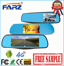 Promotion 5.0 Inch lcd Allview Rearview Mirror Car With GPS Adroid System 5.0 Wifi Dash DVR Car Recorder Camera