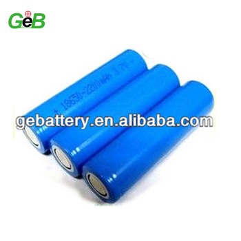 GEB 2200mAh battery pack li-ion 18650 3.7v battery