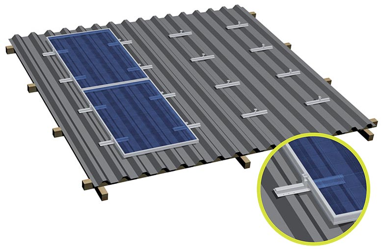 Metal roof solar energy aluminum profile rail