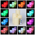 Real wax LED simulation artificial color changing candles