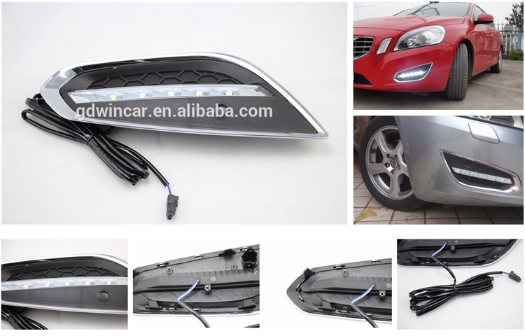 Cob Flexible Led Drl Daytime Running Light For Volvo S60 V60 2009 - 2013