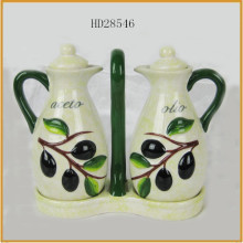 new design ceramic olive oil bottle set wholesale