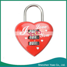 Lovely Heart Shaped Resettable Change Digital Combination Padlock