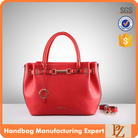 4853-2016 Ready For Sale Wholesale Original Design OL Style Red Color Lichee Textured PU shoulder bags