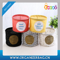 Encai Star Printing Linen Storage Box Round Shape Storage Basket