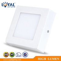 IP20 High efficiency aluminum smd 7w square led panel ceiling light