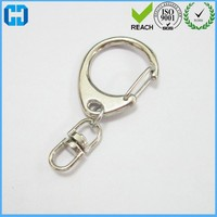 Metal Key Ring Clips Snap Hooks With Swivel Connector For Bag Key Chain