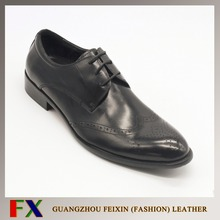 2016 Guangzhou leather shoes factory handmade genuine leather mens formal shoes for busniess occasion