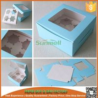 High quality mini paper cupcake box for custom wholesale