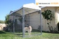 welded wire dog kennel / pet enclosure.