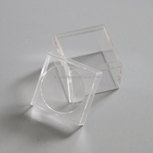 clear plastic magnifier storage box for fossil Geodes acrylic mineral diamond display box