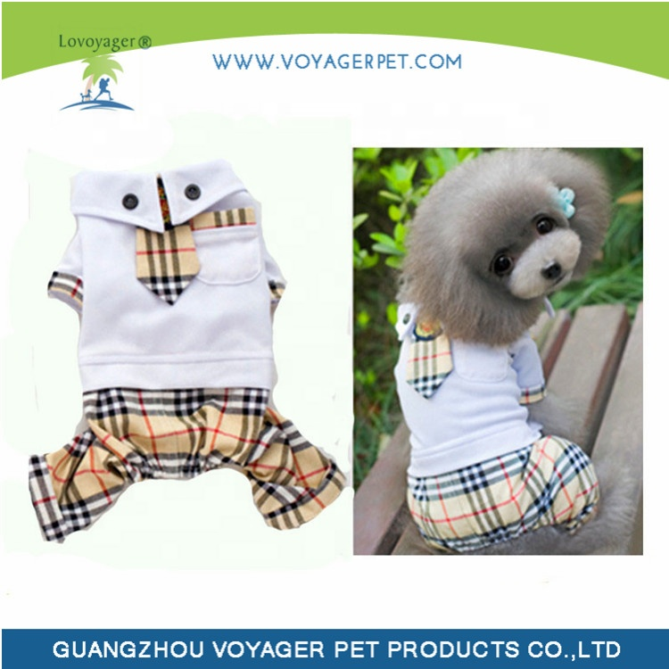 Lovoyager   dog School Stripe dress Four leg pet Trousers clothes apparel with low price