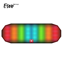Eson Style bluetooth speaker 3d LED dance with flash light handsfree audio disco music player