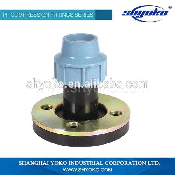 PP compression pipe fitting water fluid quick female coupling
