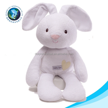 White cheap plush easter day best gift rabbit stuffed long ear soft bunny toy