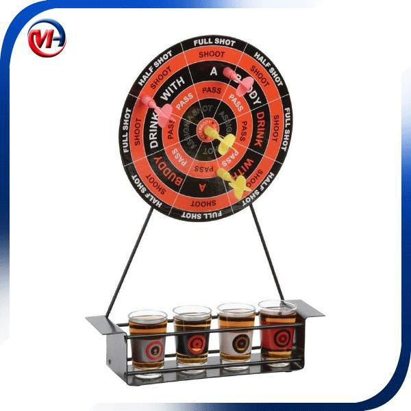 dringking dart game/drinking game / 4 glasses dart drinking game