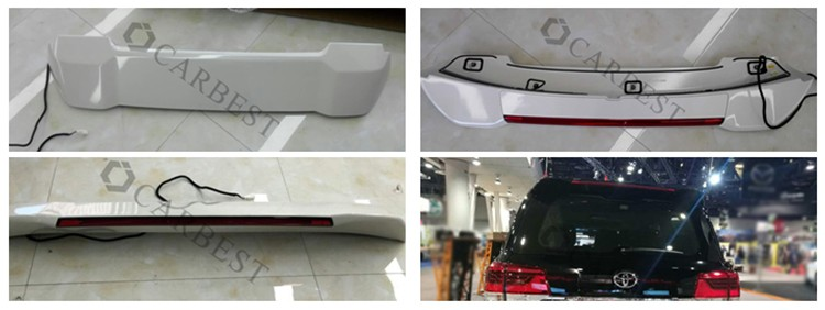 High Quality New Land Cruiser 200 2017 ABS Rear Spoiler For Toyota FJ200 2013-2017