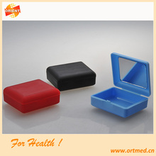 False teeth plastic retainer plastic dental container