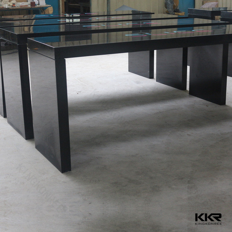 long narrow table top with custom logo, wholesale solid surface bar table