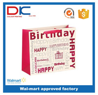 Hot design promotional reusable foldable Birthday Gift paper bag in big size