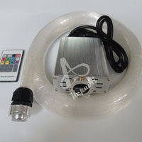 DIY 16W RGB LED fiber optic ceiling light kit with twinkle stars for home ceiling