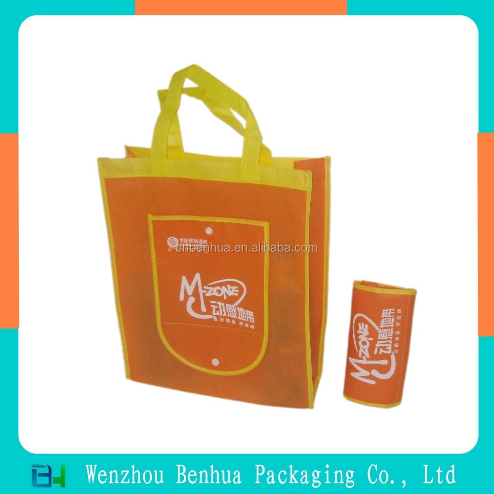 Custom recycled eco nonwoven foldable shopper bag