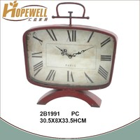 handicraft metal table clock ,decoration desk clock